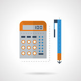 Mathematics flat color vector icon