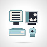 Ultrasound equipment flat vector icon