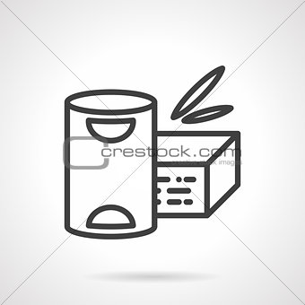 Baby powder milk simple line vector icon