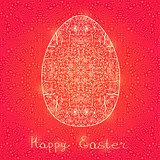 Easter Egg in Swirl Decoration Pattern