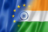 Europe and India flag