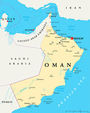 Oman Political Map