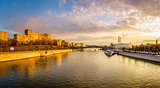 Panoramic view of the Moscow River
