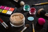 Set of makeup cosmetics