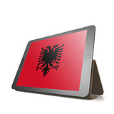 Tablet with Albania flag