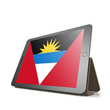Tablet with Antigua and Barbuda flag