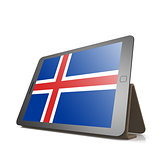 Tablet with Iceland flag