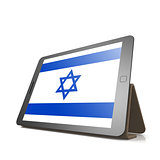 Tablet with Israel flag
