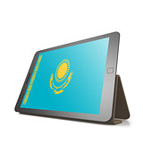 Tablet with Kazakhstan flag