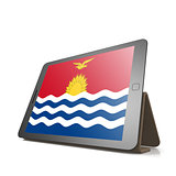 Tablet with Kiribati flag