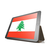 Tablet with Lebanon flag