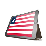 Tablet with Liberia flag