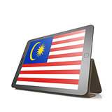 Tablet with Malaysia flag