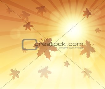 Autumn sky theme background 4