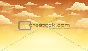 Autumn sky theme background 5