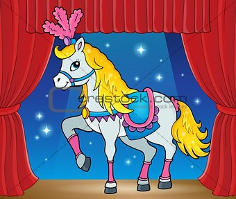 Circus horse theme image 2