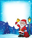 Santa Claus with bell theme frame 1