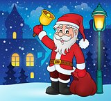 Santa Claus with bell theme image 2