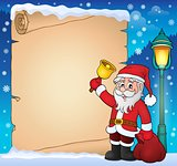 Santa Claus with bell theme parchment 1