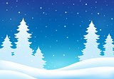 Winter theme background 8