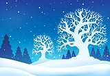 Winter theme background 9