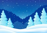 Winter theme landscape 2