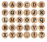 wooden font