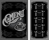 black and white pattern for coffee menu