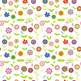 Whimsical flowers seamless