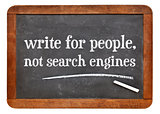 write for people, not search engine