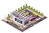 Vector isometric bus station