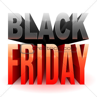 Black Friday 3D Text