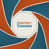 Abstract brochure with camera shutter design
