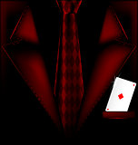 red suit and ace of diamonds