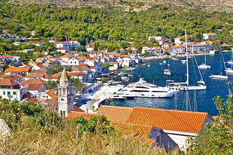 Old town of Vis yachting waterfront