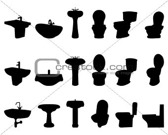 sinks and  toilet
