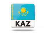 Square icon with flag of kazakhstan