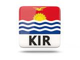 Square icon with flag of kiribati