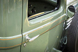 Detail Abstract of Vintage Car Door and Handle