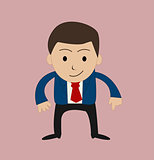 funny cartoon office businessman