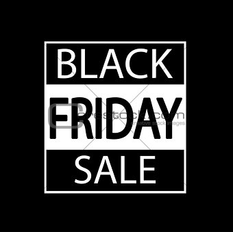 Black Friday sale design element