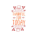 Thankful for today - typographic element