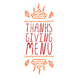 Thanksgiving menu - typographic element