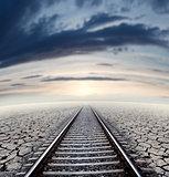 Railway travel concept