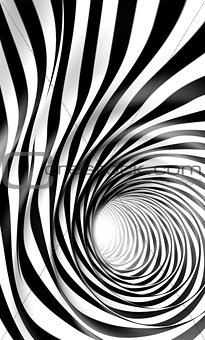 Abstract swirl and hole