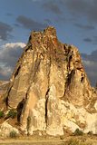 Beautiful cone mountain in Cappadocia Turkey