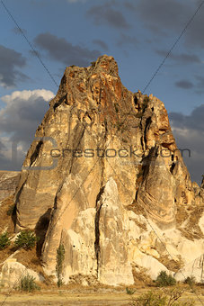Beautiful cone mountain in Cappadocia Turkey