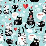 Beautiful cat lover pattern