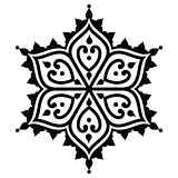Mehndi, Indian Henna tattoo desgin - star shape