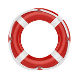 fesaver, lifebelt, lifebuoy with rope isolated on white backgrou